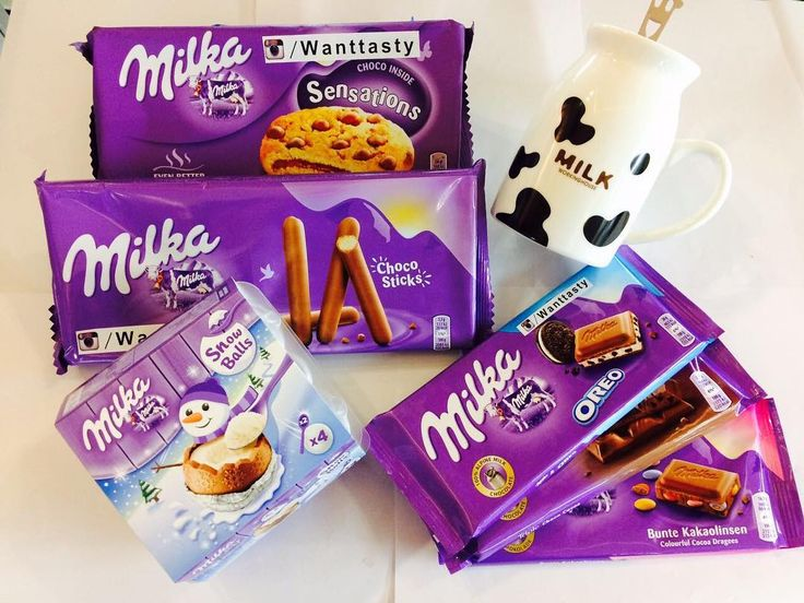 печенье Milka Sensations 259 печенье Milka Sticks 190 шоколадные яйца Milka 479 шоколадки Milka 100 гр 149 кружка с ложкой Milk 590 #wanttasty #магазинкрутыхштук