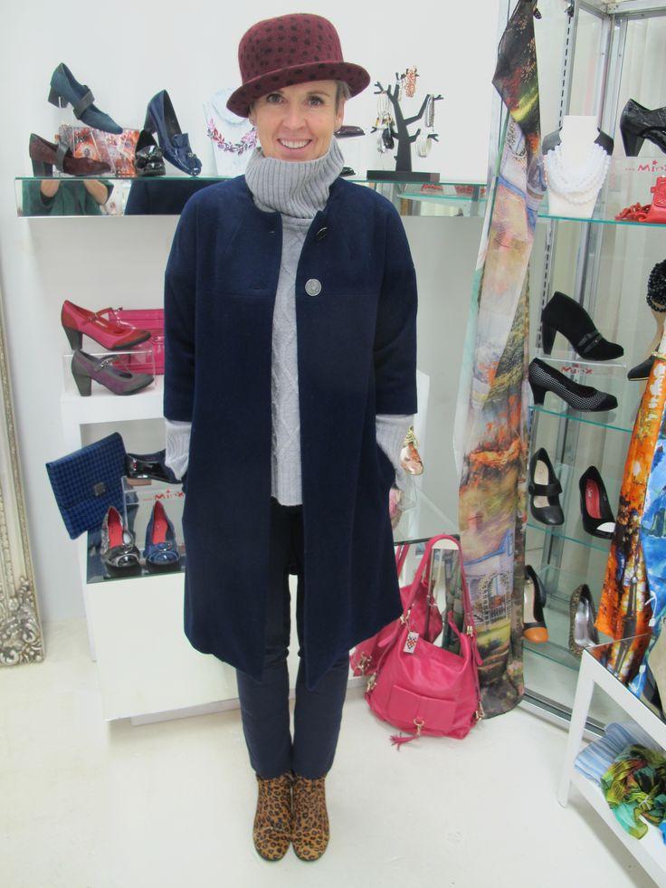 Hat - Minx Boots - Minx Pants - Helen Ryan Fashion Design Jumper and Coat - Andrea Moore