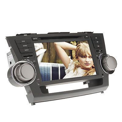 Price - $200.42. 8Inch 2 DIN In-Dash Car DVD Player For Toyota HIGHLANDER 2008-2012 With GPS BT ( Type - Toyota, Brand - Unbranded/Generic, MPN - Does not apply, Features - RDS, GPS, SD/USB Support, Built-in Bluetooth, FM,, Screen Resolution - 800 x 480, GPS Card Slot - SD Card, Support Map - Sygic, Garmin, Route66, IGO, Digital TV or Analog TV - Analog TV, SKU - S118603000001, UPC - Does not apply    )