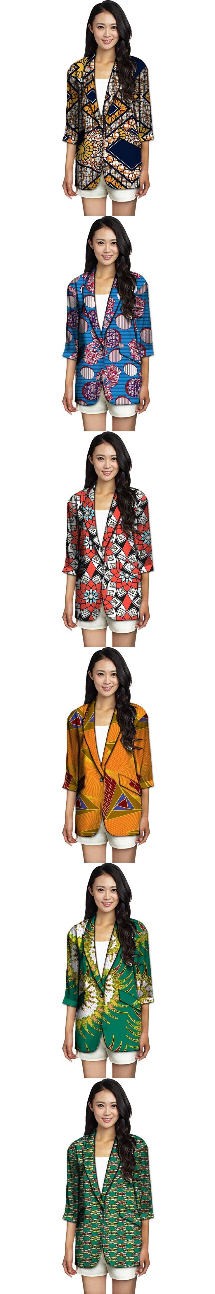 Women African Suit Jackets Casual Fashion Blazer Coats Africa Printed Customize Made Ladies Dashiki Clothing