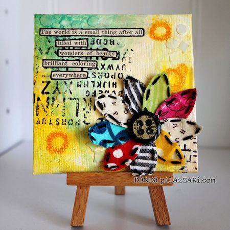 Beauty Everywhere Mini Canvas Tutorial