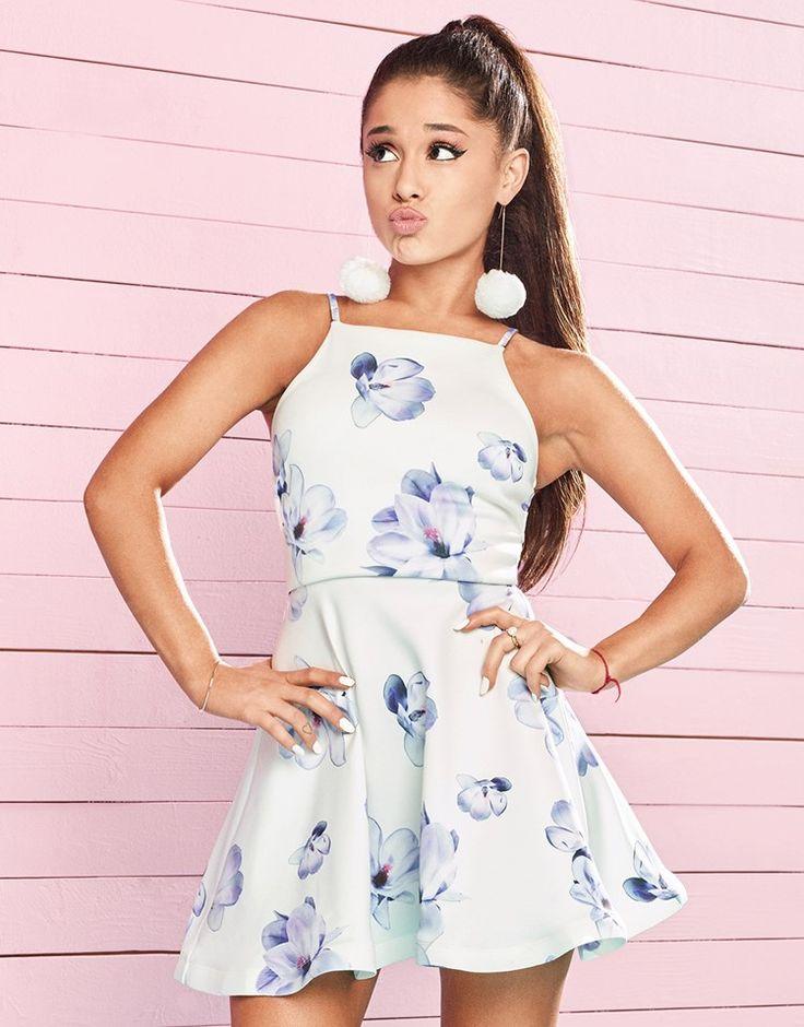 Ariana Grande For Lipsy Floral Frill Hem Skater Dress