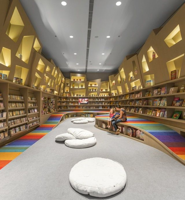Rainbow Twisted Bookstore For Kids Interior Retail Design