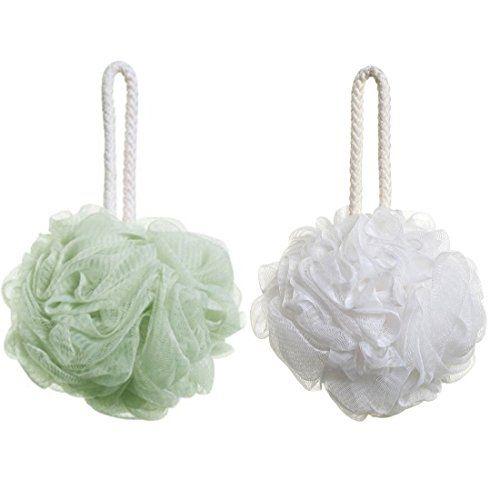 2pcs Shower Bath Sponge, Jmkcoz Body Shower Loofah Mesh Puff Soft Shower Ball Bath Towel ** Read review @