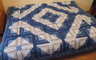лоскутомания: очень синее одеяло