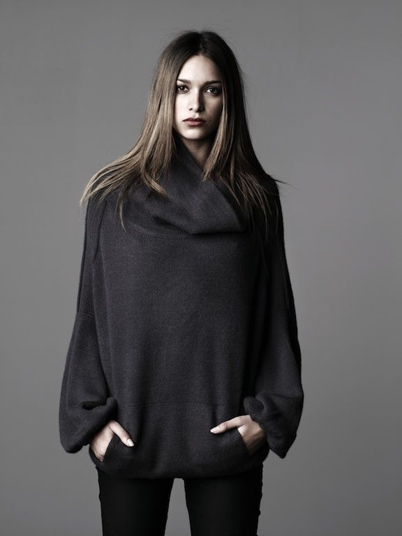 cashmere- so warm and cozy.  I'd never take it off.