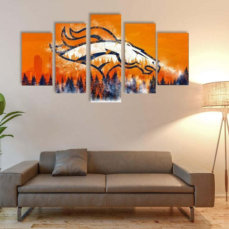 DENVER BRONCOS 5 PIECE CANVAS LIMITED EDITION