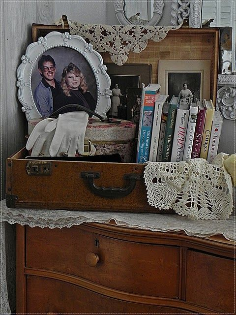 love this idea for a vintage suitcase, but I never seem to be able to find them anywhere.