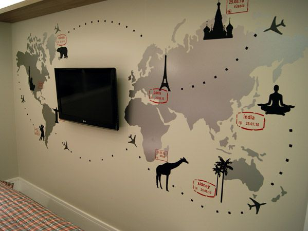 25 melhores ideias sobre adesivo mapa mundi no pinterest - Mapa mundi mural ...