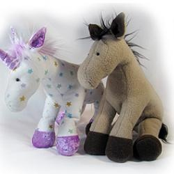 Horsey Horse and Unicorn Plush Toy PRINTED PATTERN