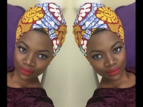 Quick and easy headwrap tutorial : Erykah badu, Nefertiti style - YouTube