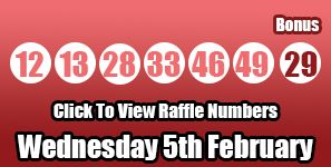 The Lotto results for Wednesday 5th February 2014 - get a run down and commentary here: http://lottorafflenumbers.com/lotto-results-5th-february/ #lotto #lottery