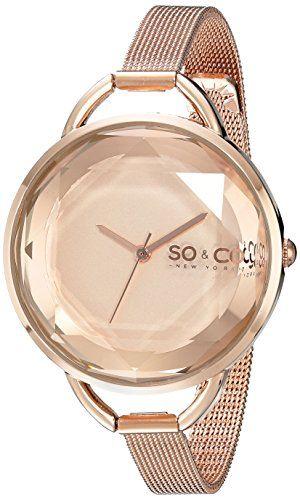 SO&CO New York Women's 5104.4 SoHo Analog Display Japanese Quartz Rose Gold Watch SO&CO New York