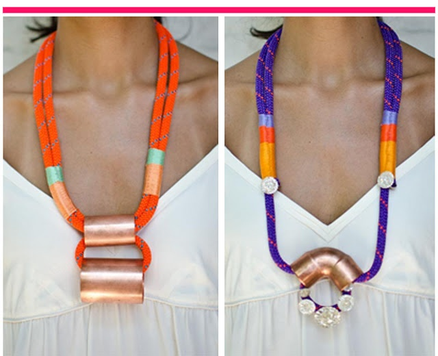 by Sepia Beauty: Statement Big Necklaces, Statement Necklaces, Free Weblog, Color Combos, Bright Color, Summer Jewelry, Ropes, Neck Art, Sepia Beauty