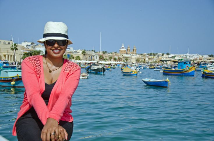 Perching on my haunches in lovely Marsaxlokk - ten points if you can pronounce is right the first time! #Malta