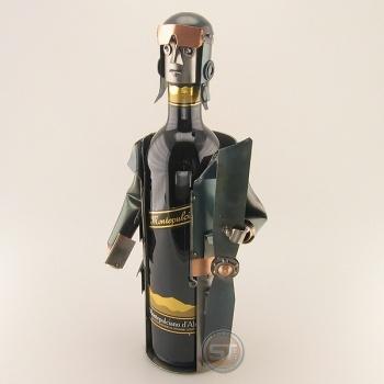 Schraubenmännchen Weinflaschenhalter Pilot