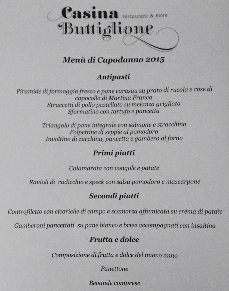 Menu pranzo di Capodanno! Info 3663091510 Chef Raffaele Quero