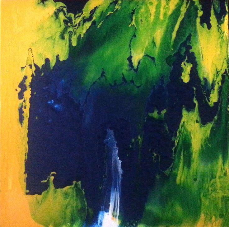 Waterfall     Antal Fülöp     canvas 50x50 cm