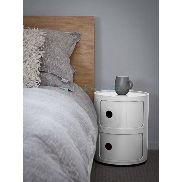 Mocka's white Post Box 2 makes a stylish and functional bedside table!