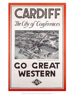 Cardiff #Vintage #Rail #Poster #Print #Art #Vintage #Old #Classic #British…