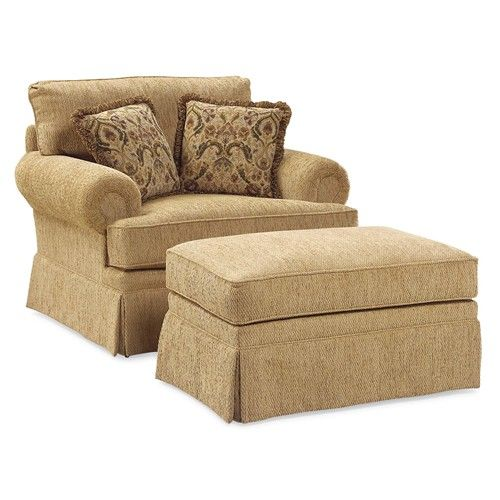 Fairfield 3736 Oversized Skirted Lounge Chair and Ottoman Combination