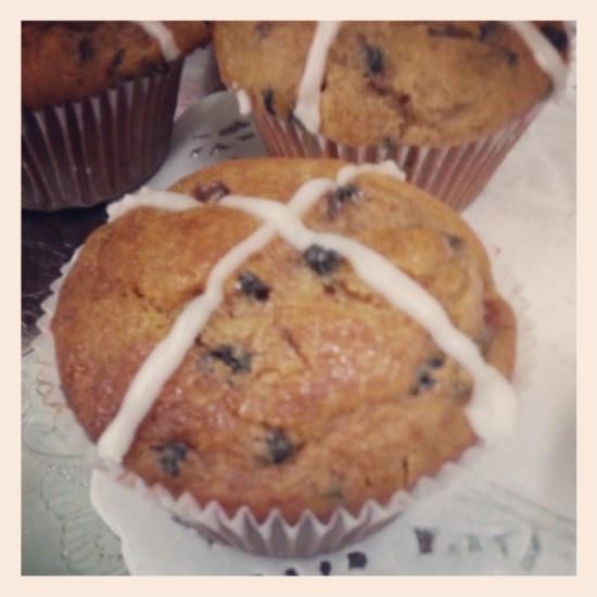 Easter Time......Hot Cross Cupcake Recipe