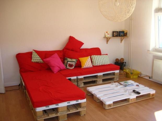 Pallets Palettensofa, Tags DIY, Sofa, Europaletten, Wohnzimmer