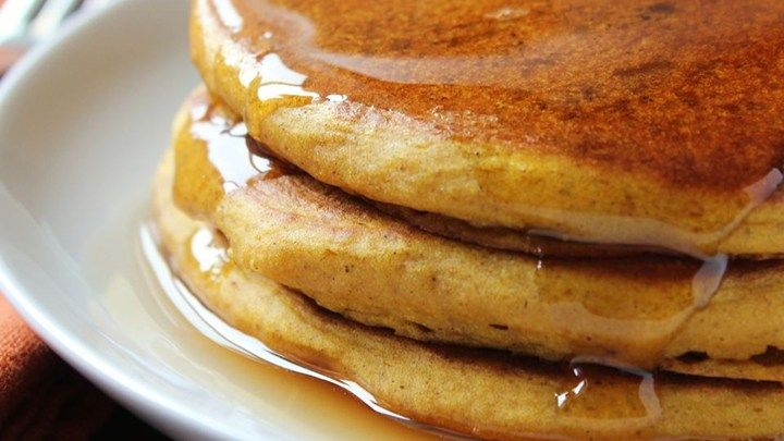Ginger, cinnamon and allspice give this pumpkin pancake recipe just a hint of sweetness, making it the perfect fall breakfast. -- my pumpkin pancake recipe of choice