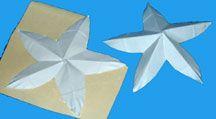Zeester knutselen van papier en versieren
