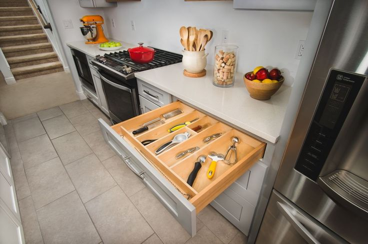 Organize all your #kitchen utensils in one drawer with Rev-A-Shelf's 4WUT drawer insert.