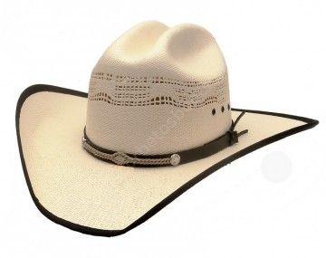 Corbeto's Boots   53-HC75   Sombrero cowboy paja calada con banda negra   Fretwork straw cowboy hat with black border