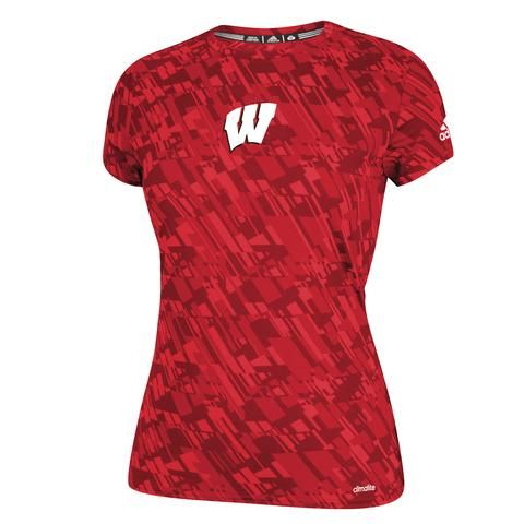 Ladies Wisconsin Performance Tee-Adidas