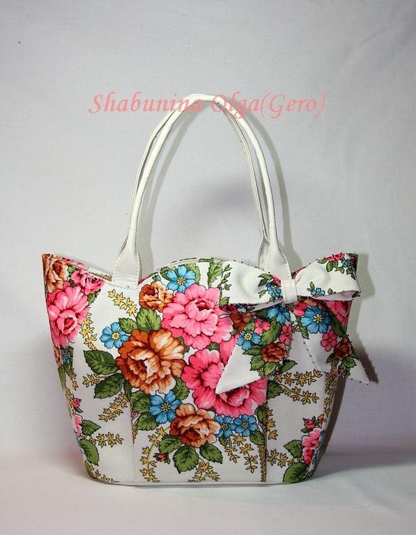 """Купить Сумка """"Возвращение"""" - разноцветный, цветочный, павловопосадский платок, изделия из платка, из платка, изделия из кожи"""