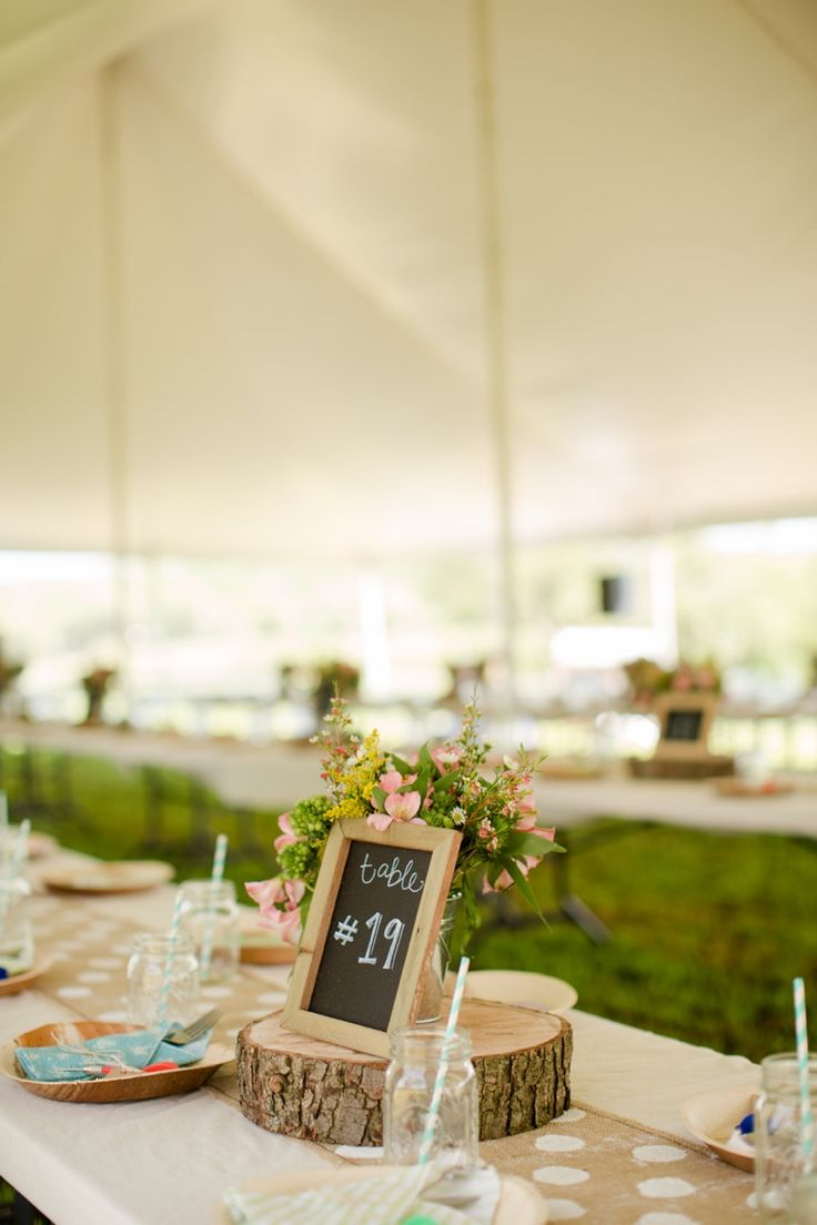 Rustic centerpiece // Photo by Katelyn James Photography, see more at http://theeverylastdetail.com/rustic-eclectic-backyard-maryland-wedding/