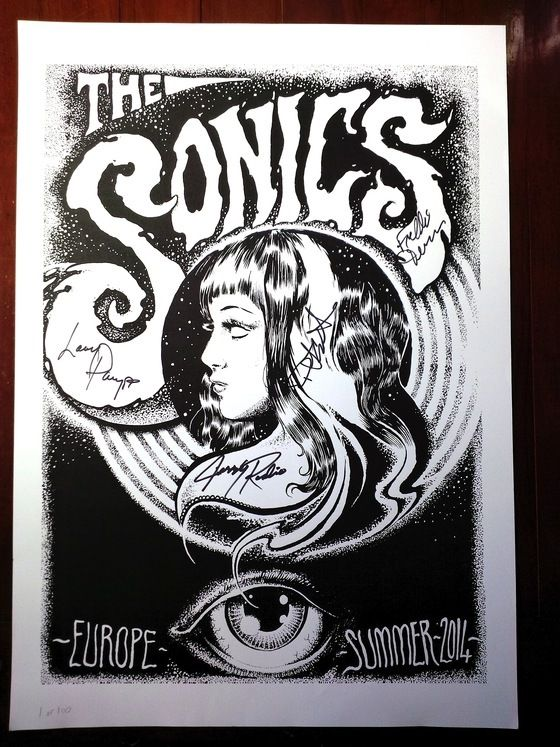 Image of SIGNED LIMITED EDITION 2014 European Summer Tour Poster