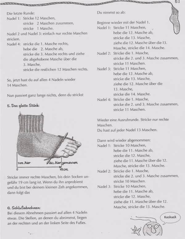Stricken allgemein »Socken Strickmuster