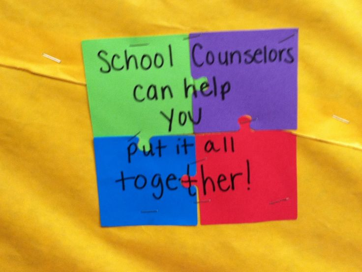 School Counselor Blog: Feeling PUZZLED? School Counselors Can Help You Put it All Together! Bulletin Board