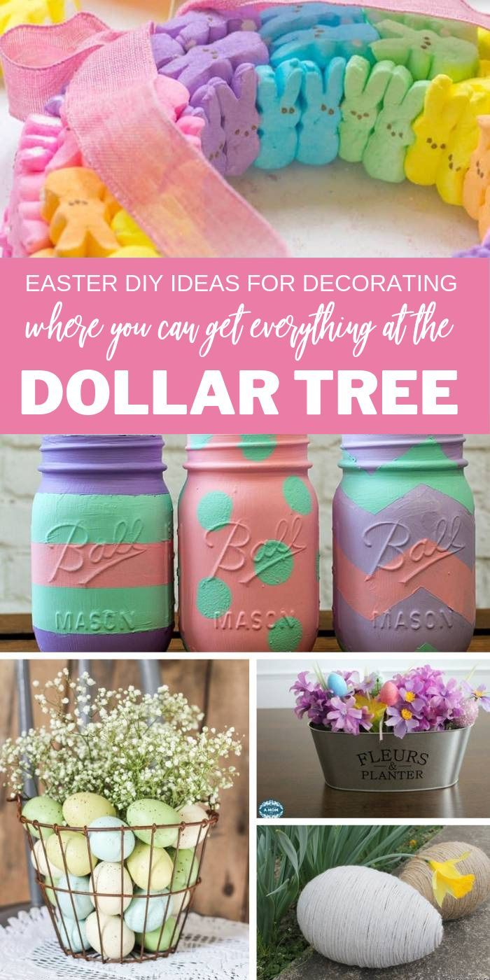 20 Adorable Dollar Tree Easter Decorating Ideas Passion For Savings Easter Decorations Dollar Store Dollar Tree Easter Crafts Easter Diy