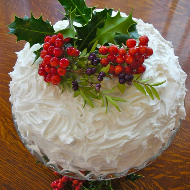 Traditional Christmas fruit cake with marzipan and royal icing.