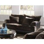$769.00 Jackson Furniture - Barkley Loveseat in Chocolate Fabric - 4442-02C