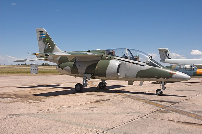 Fuerza Aérea Argentina FMA IA 63 Pampa advanced jet trainer.