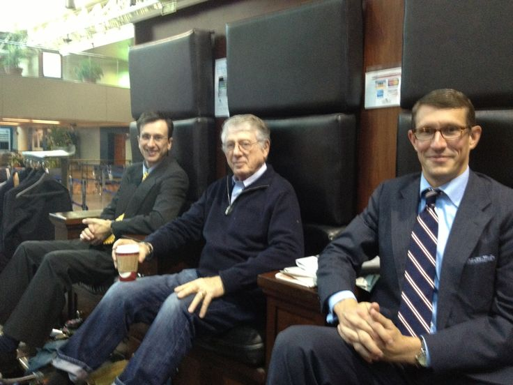 Union Station shoe shine stand - Ben Lamm - Ted Koppel - after Hiring Our Heroes event - Hiring 500,000 Heroes - Capital One