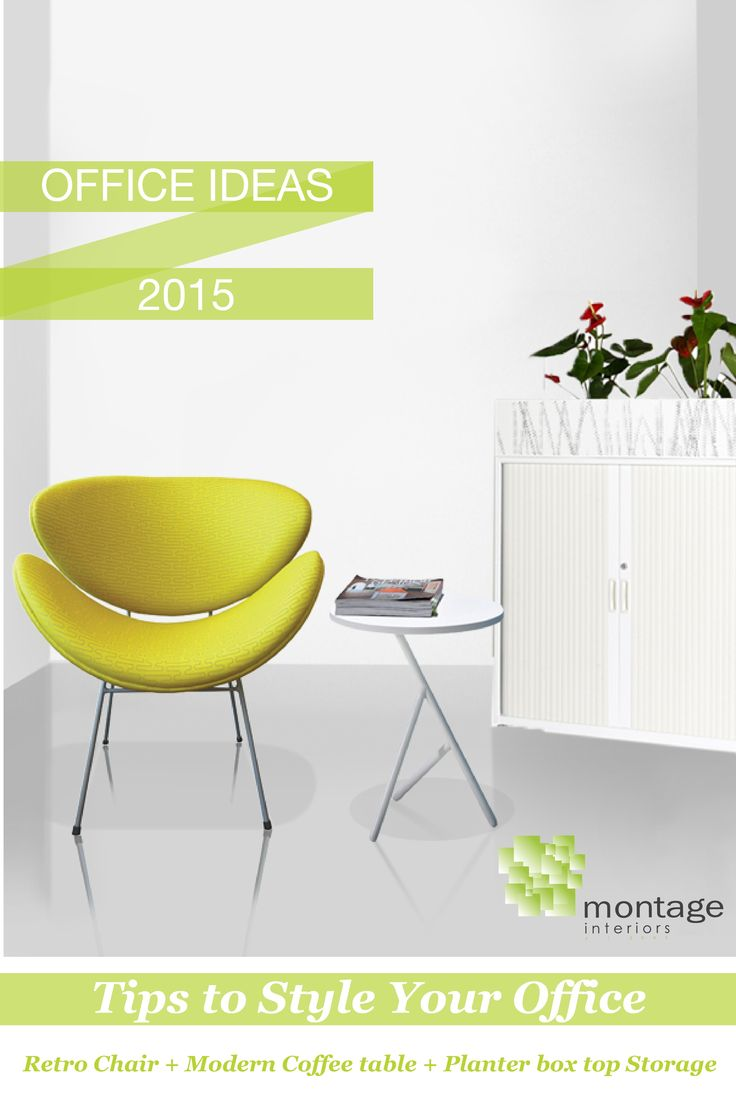 We thought we'd share a few of our tips for styling your office! Grab a retro chair, a modern white coffee table and a storage cabinet with a planter box on top!