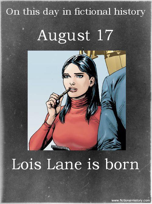 (Source) Name:Lois LaneBirthdate:August 17Sun Sign:Leo, the Lion