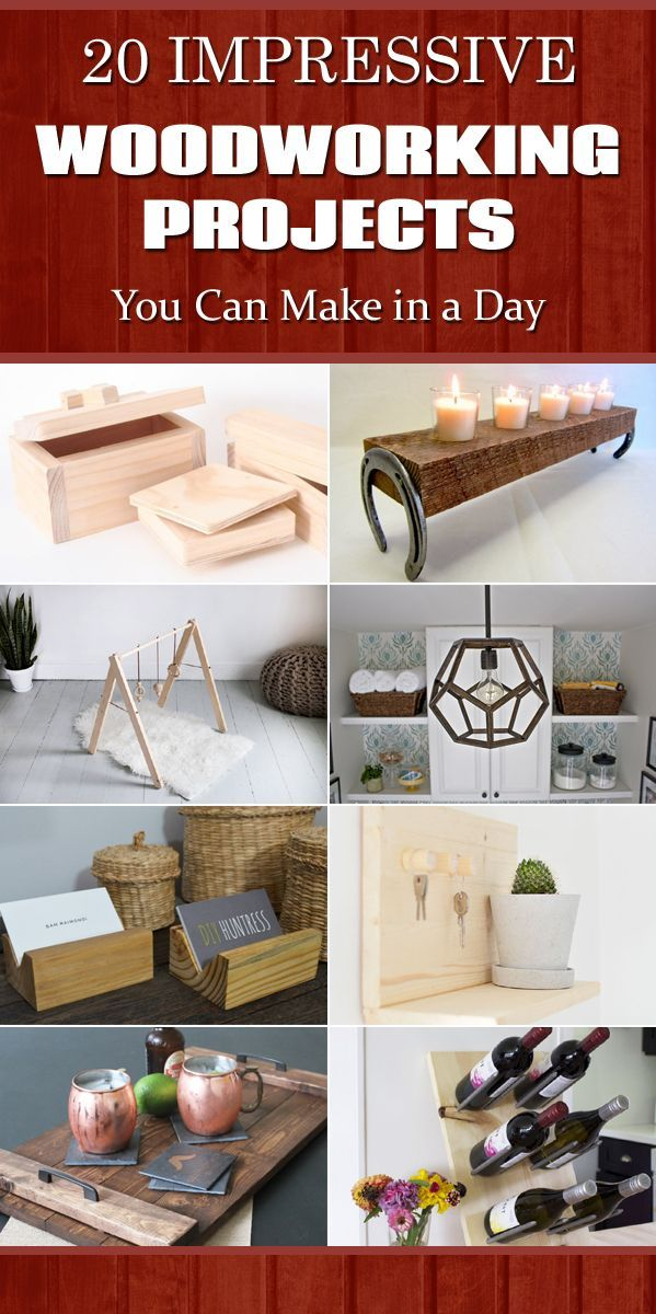 DIY Woodworking Ideas 20 Impressive Woodworking Projects You Can Make In A Day