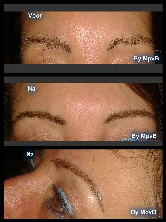 Wenkbrauwen , permanente make up