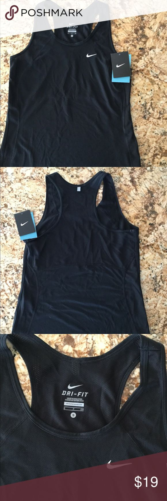 Nike womens dry fit tank New with tag black size small perfect condition Nike Tops Tank Tops #womantanktop