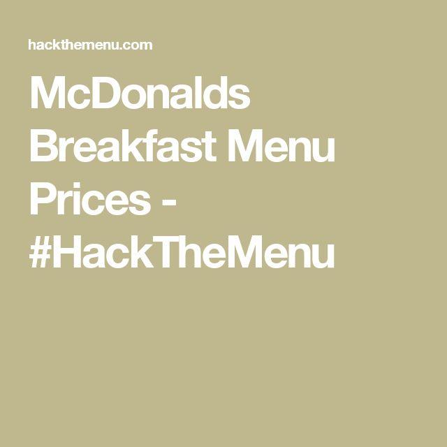 17 best ideas about mcdonalds breakfast on pinterest