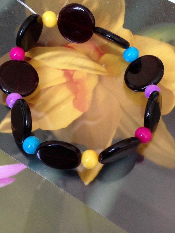 Multi colour bracelet.