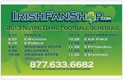 2013 Notre Dame Football Schedule